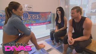 nikki paige and dolph ziggler get fish pedicures while in tokyo total divas january 19 2016