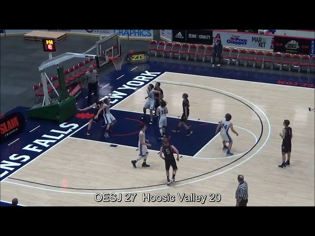 Game Highlights Boys' Varsity: OESJ 46 vs Hoosic Valley 35 (F)