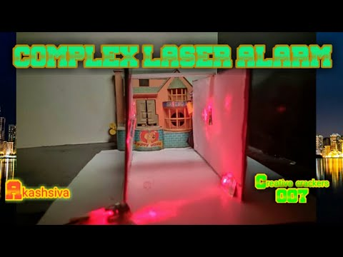 How to make COMPLEX LASER ALARM. .    DIY     AKASHSIVA    electronic projects    