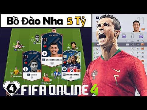 """I Love Cầm 5 Tỷ Cùng Ronaldo LH Xây Dựng & Trải Nghiệm Đội Hình """" BỒ ĐÀO NHA """" Xuất Sắc Nhất FO4"""