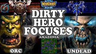 Grubby | Warcraft 3 TFT | 1.29 | ORC v UD on Amazonia - Dirty Hero Focuses
