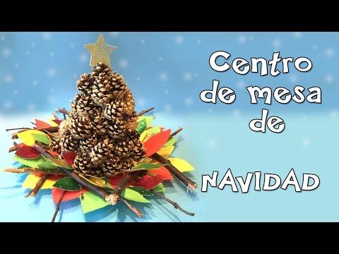Centro de mesa de navidad- Manualidad facil para navidades.