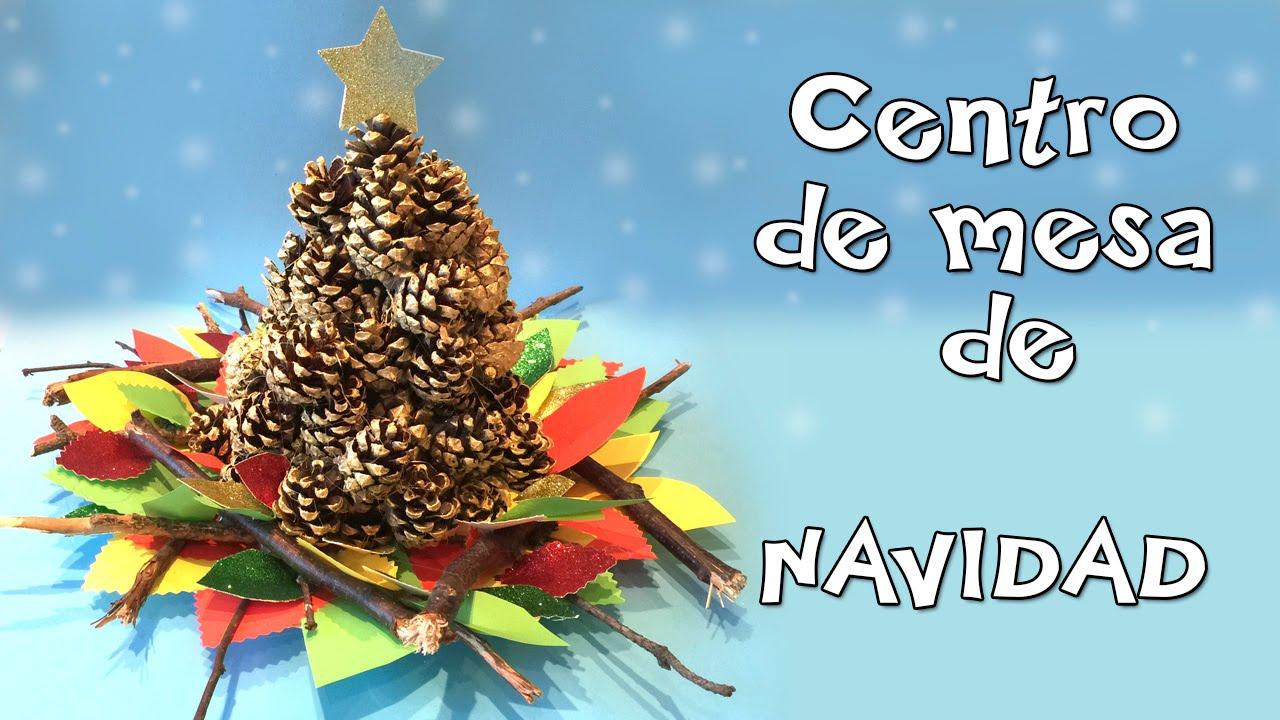 Centro de mesa de navidad manualidad facil para navidades - Centros de mesa navidenos faciles ...