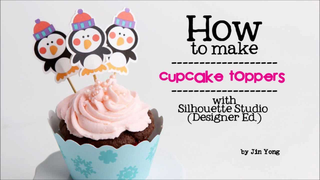 print and cut tutorial how to make cupcake toppers with the
