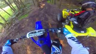 Caught Trespassing on Dirtbikes | LTZ400 Yz250 | GoPro