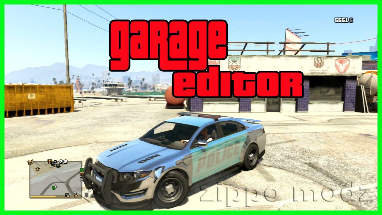 gta 5 garage editor pc