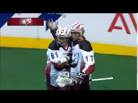 NLL: John Grant, Jr. dishes BTB assist to Chris Wardle for Colorado Mammoth goal