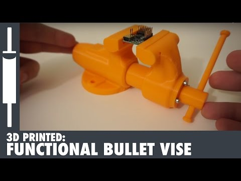 3D Printing a Model of a Functional Vise! Created from the Ox Tools, Wilton Baby Bullet Vise project
