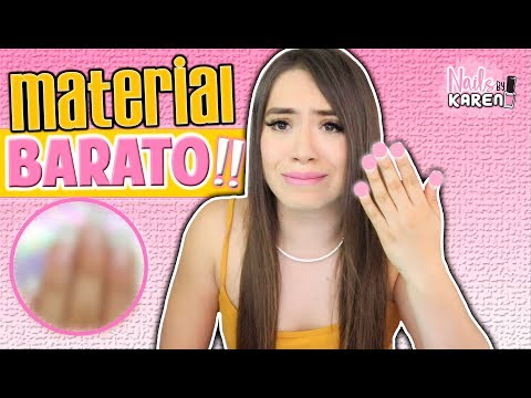 ME APLICO UÑAS con MATERIAL MUY BARATO!!