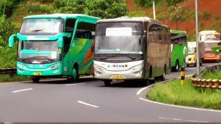 Gokil Empat Bus Gapuraning Rahayu Melibas Bus Budiman Di Tanjakan Gentong