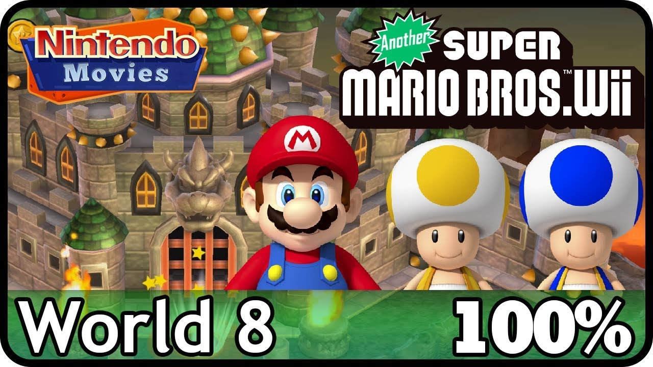 Another New Super Mario Bros Wii World 8 100 Multiplayer