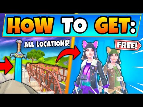 Fortnite SKYES SWORD IN A STONE & BRIDGE LOCATIONS! Skyes Adventure Challenges Guide Battle Royale