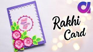 Paper Rakhi Card Craft Idea   Raksha Bandhan 2018   Easy Gift Idea   Paper Flower Card   Artkala