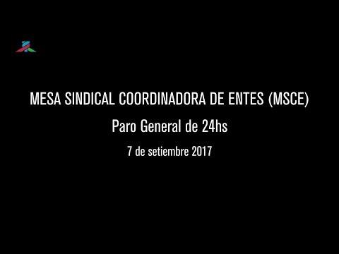 PIT-CNT Paro Mesa Sindical Coordinadora de Entes 7-9-2017