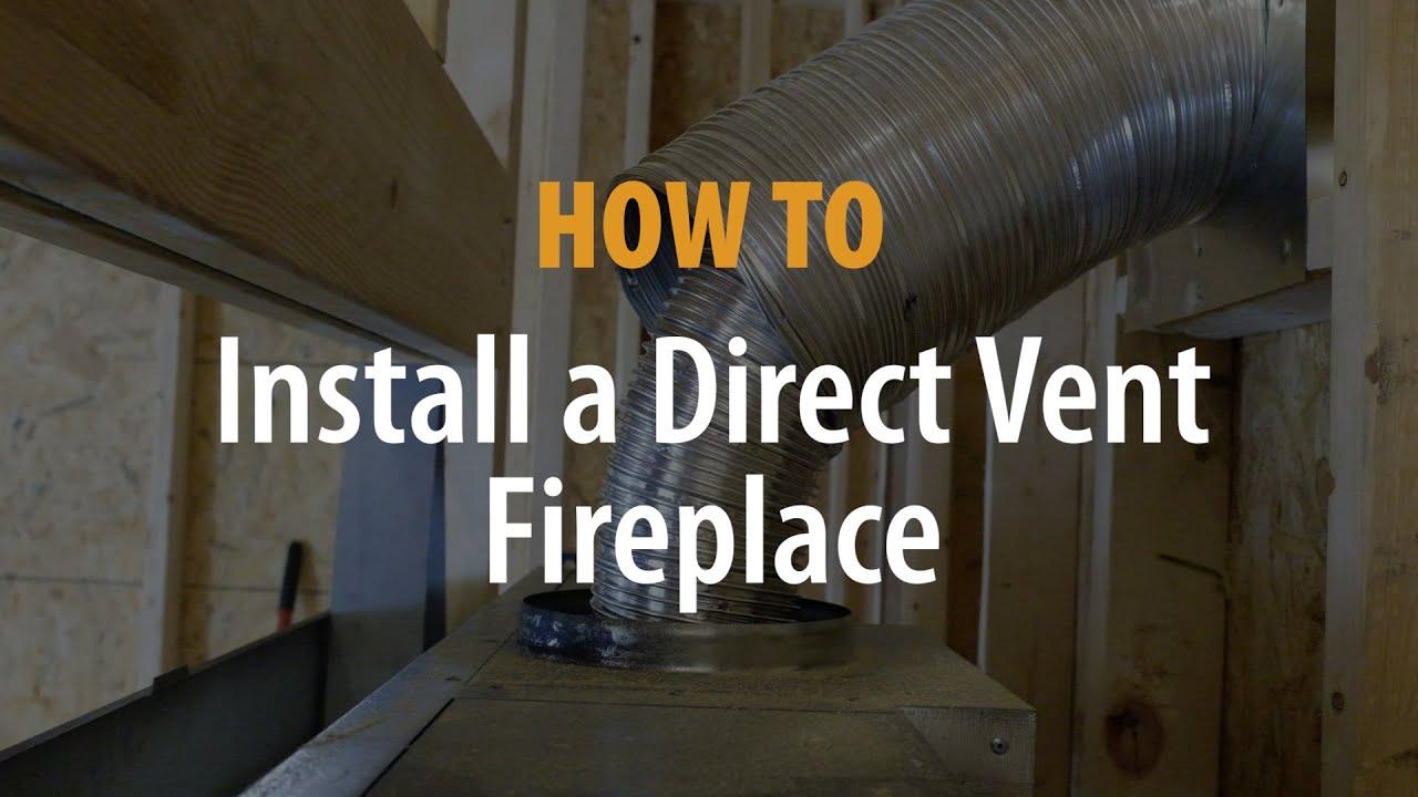 direct vent fireplace installation efireplacestore com youtube