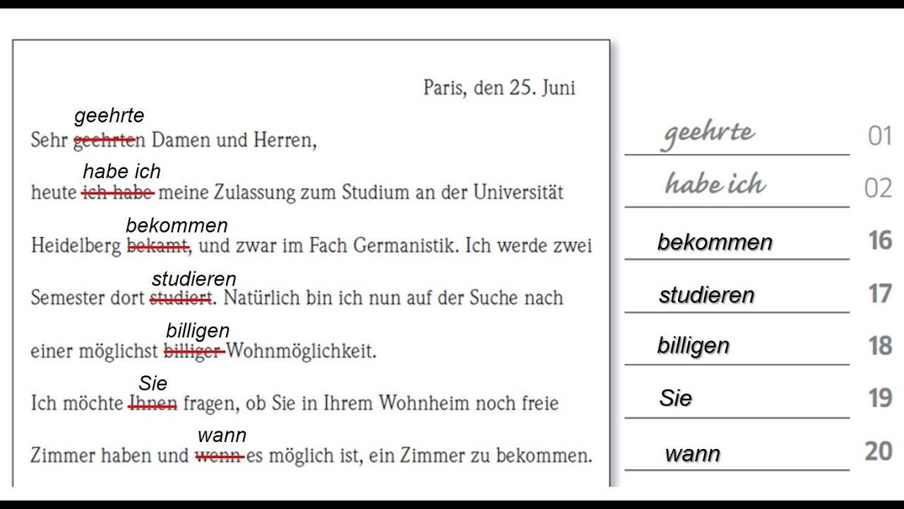 Goethe Zertifikat B2 Schreiben Aufgabe 2 Goethe Certificate B2