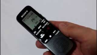 sONY IC Recorder ICD-PX333 Test