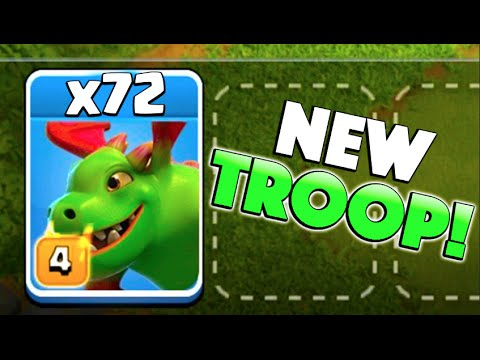 x72 NEW BABY DRAGONS! - Clash of Clans - New Update Baby Dragon Raids!