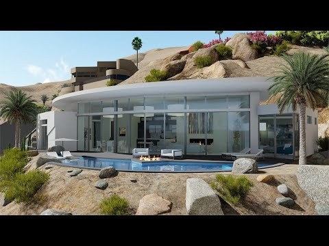 Palm Springs Hillside Modern Contemporary View Home