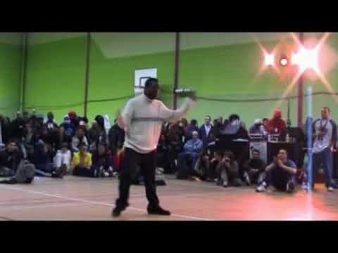Juste Debout 2003 - Popping final - Iron Mike & Ajaar vs Magalie & Melanie