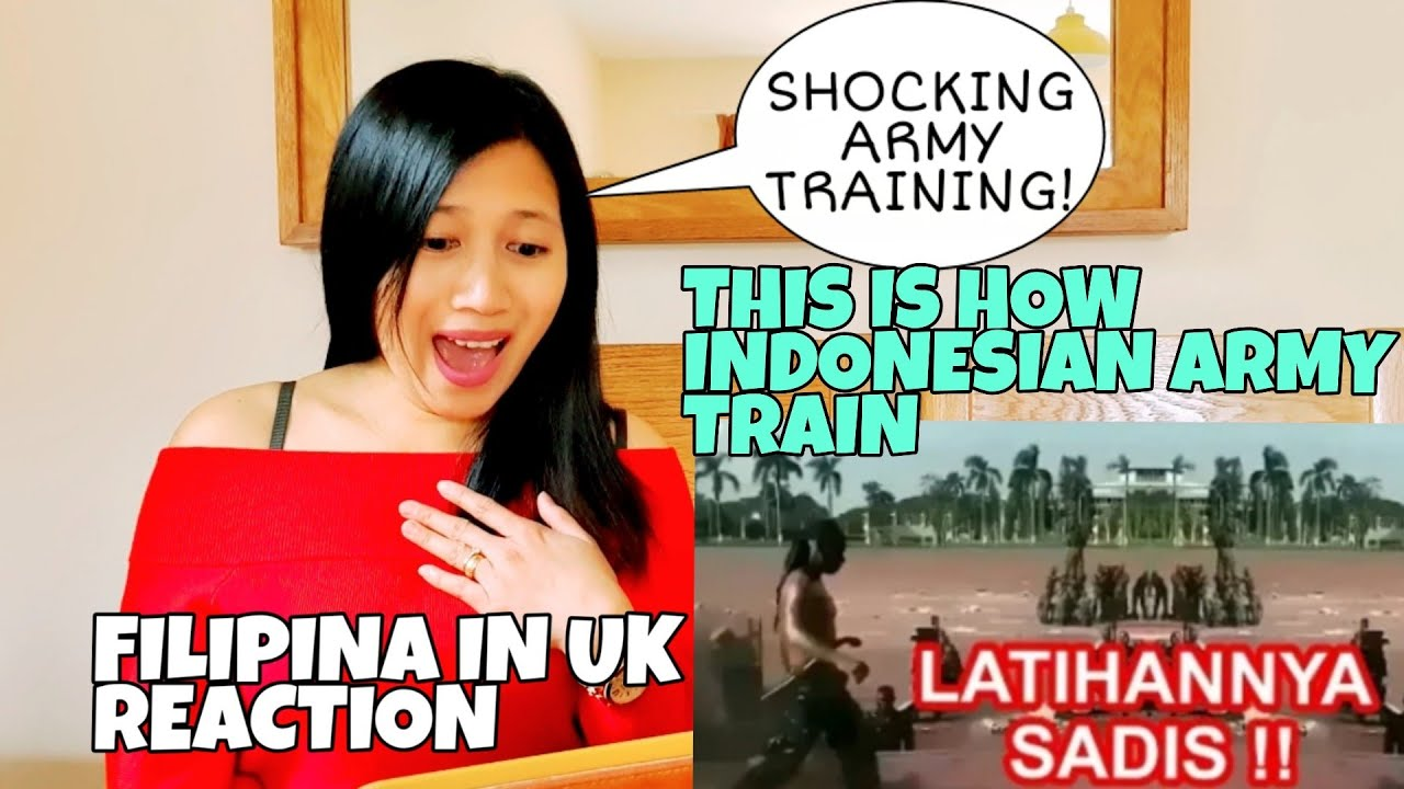 THIS IS HOW INDONESIAN ARMY TRAIN - REACTION ( BEST REACTION ) FILIPINA IN UK REACT #indonesianarmy