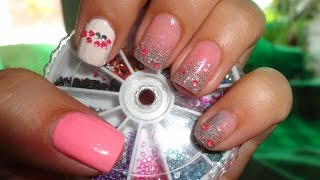 Kpop Nails: Crayon Pop Strawberry Milk Choa Nails 딸기우유 Ok오케이 Mv