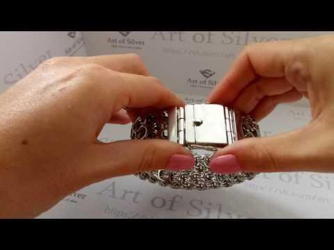 Эксклюзивная модель! Массивный Серебряный  браслет Двойной Кардинал