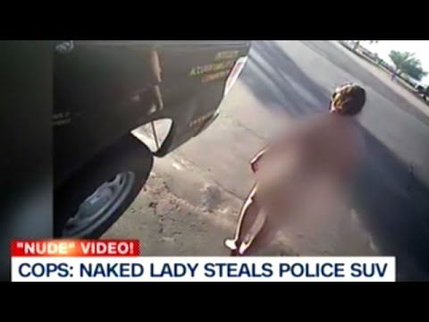 Naked Woman In Car
