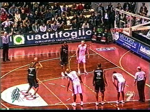 Serie A 2001/'02 Coop Nordest Trieste - Fabriano Basket 74-79