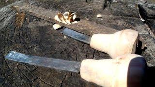 Как сделать полукруглые стамески для резьбы по дереву своими руками.Ковка из обоймы подшипника