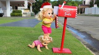 Natal 🎁📫💌da Baby Alive minha Boneca Sara indo na Casa do Papai Noel buscar Brinquedo de Presente!