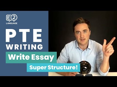 PTE Writing: Write Essay SUPER STRUCTURE | Sentence by Sentence with Jay!