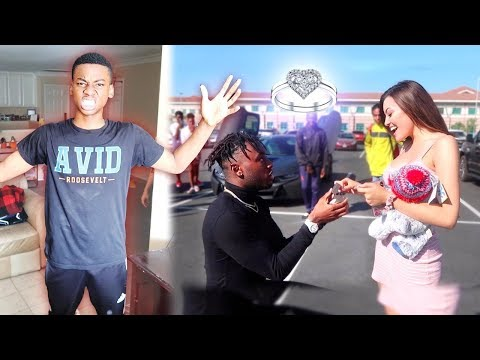 """I Proposed to my Little Cousin's NEW """"GIRLFRIEND"""" at his SCHOOL! """"THIS WENT ALL WRONG*"""