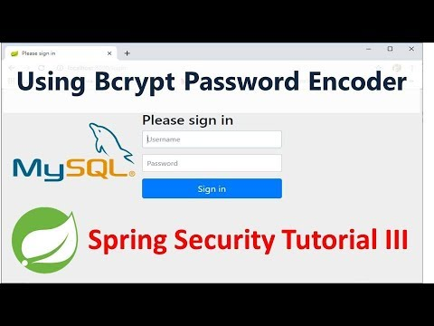 Spring Security Tutorial - Using BCrypt Password Encoder - Part 3 thumbnail