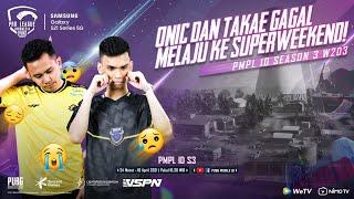 PMPL INDONESIA S3 | W2 D3 | SAMSUNG GALAXY S21 SERIES 5G | Onic & Takae GAGAL Melaju ke Superweekend