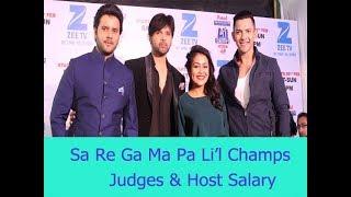 Real Salary Of Sa Re Ga Ma Pa Li'l Champs judges and host by tv darshan