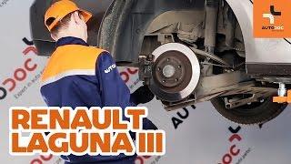 Jak vyměnit Brzdové destičky ruční brzdy на RENAULT LAGUNA III Grandtour (KT0/1) - online zdarma video