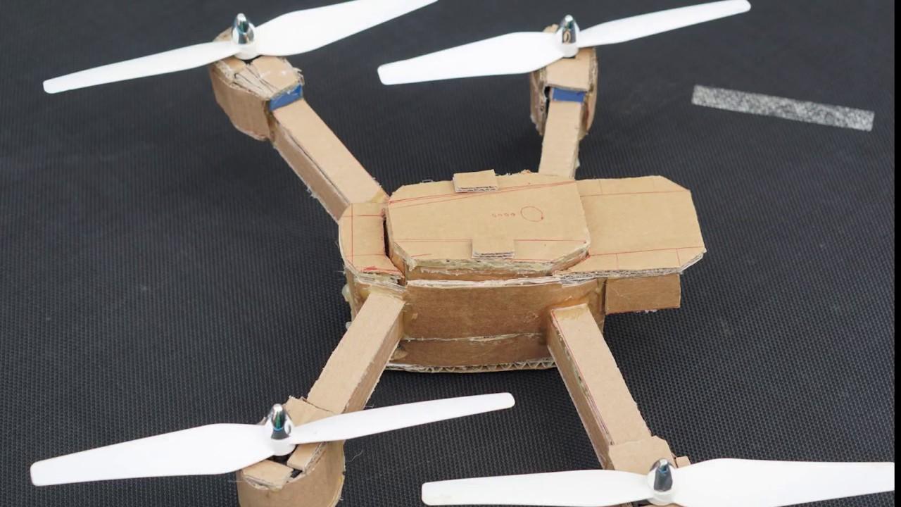 Amazing Cardboard Diy Drone Youtube