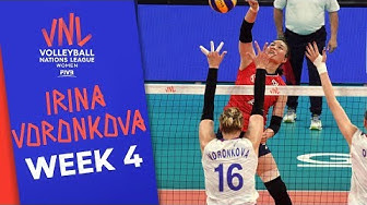 Irina Voronkova is Russia's artillery on the court | VNL Stars | Volleyball Nations League 2019