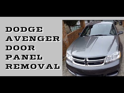how-to-remove-door-panel-dodge-avenger-2011-2017