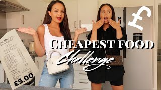 I TRIED THE CHEAPEST FOOD IN THE SUPERMARKET for 24 HOURS! - AYSE AND ZELIHA