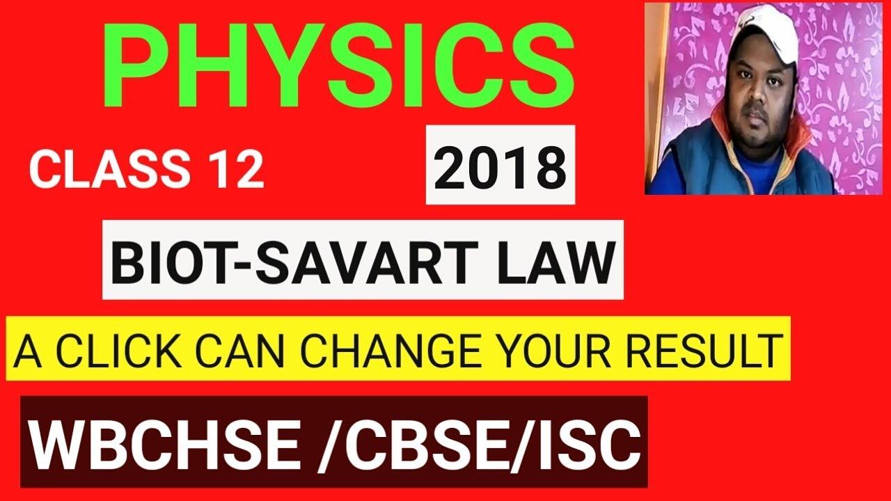 Class 12 Physics //Biot SAVART law// by physics academy Mahishadal