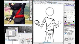 How to draw a ninja character partea 1