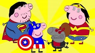 Coloring Pages | Peppa Pig Story | Captain America | Свинка Пеппа | Kids Animation Collection #13