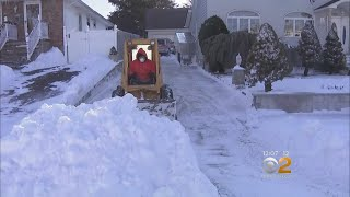 Long Island Neighbors Help Dig Out After Storm