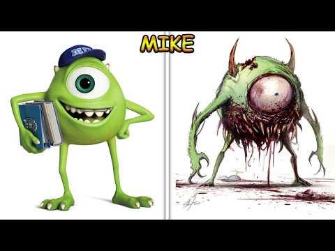 Cartoon Characters as Monsters 2017! 😱