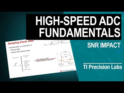 The Impact Of Jitter On Signal To Noise Ratio (SNR) For High-Speed Analog-to-Digital Converters (ADC