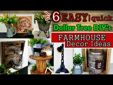 EASY & Quick Farmhouse DIY's | Home Decor Ideas | Dollar Tree DIY's