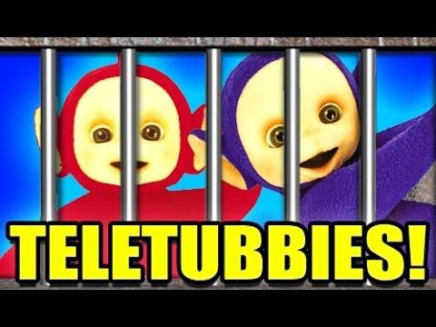 TELETUBBIES IN JAIL!? -- Gmod COPS N ROBBERS Mod! 9 (Garry's