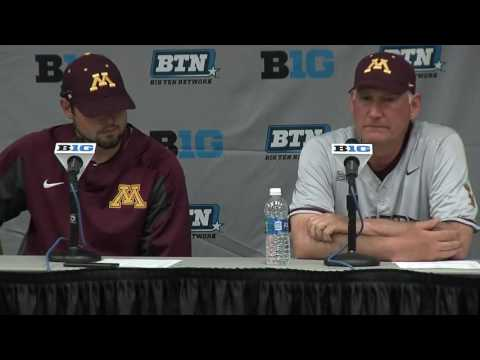 John Anderson, Gopher Baseball Post-B1G Tournament Press Conference (Full)
